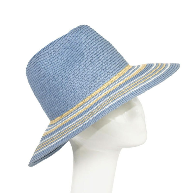 Braided Cloche Sun Hat-Hats-Suzanne Bettley-Blue-Tegen Accessories