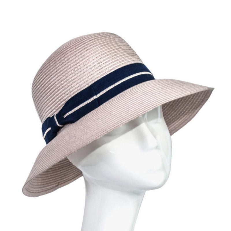 Braided Sun Hat with Ribbon-Hats-Suzanne Bettley-Pink-Tegen Accessories