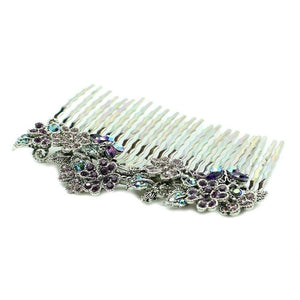 Butterfly Bridal Comb-Hair combs-Swarovski Crystal-Pink Crystal-Tegen Accessories