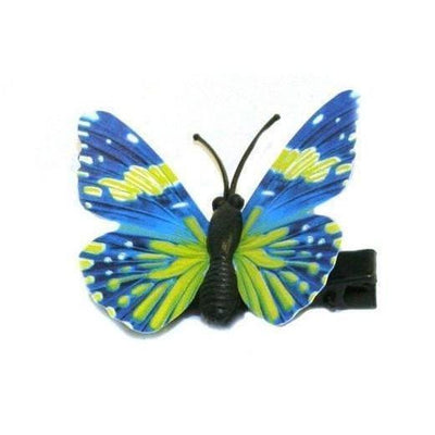 Butterfly Hair Clip-Clips & slides-Children-Blue-Tegen Accessories