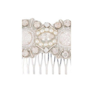 'Carina' Swarovski and Pearl 20's Comb-Hair combs-Eliza Vale-Ivory-Tegen Accessories