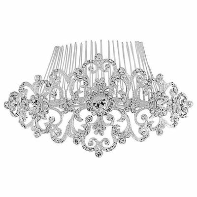 'Charlotte' Crystal Bridal Comb-Hair combs-Bridal-Tegen Accessories