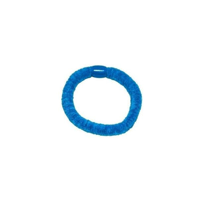Chenille Hair Elastic-Discontinued-Bright Blue-Tegen Accessories