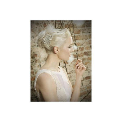 'Coco Rose' Bridal Comb-Hair combs-Eliza Vale-Ivory-Tegen Accessories