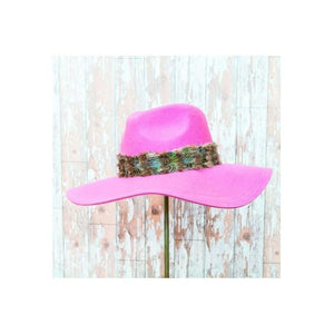 Cora Fedora Hat-Discontinued-Pink-Tegen Accessories
