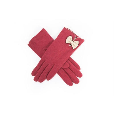 Cordelia Wool Gloves-Discontinued-Red-Tegen Accessories