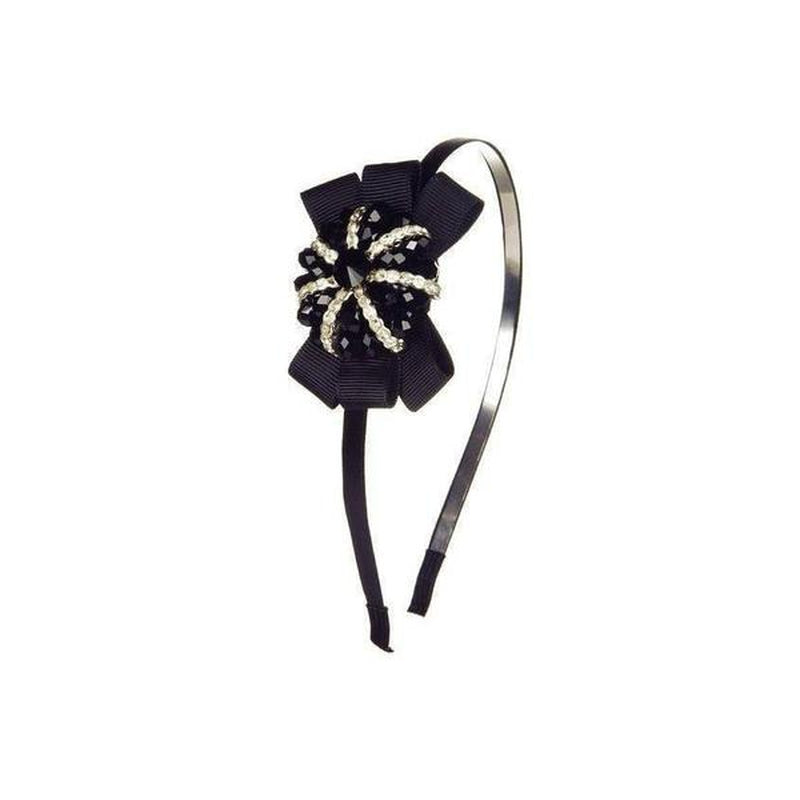 Crystal Bow Headband-Headbands-Rosie Fox-Black-Tegen Accessories