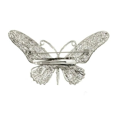 Crystal Butterfly Hairclip & Brooch-Brooches-Rosie Fox-Tegen Accessories