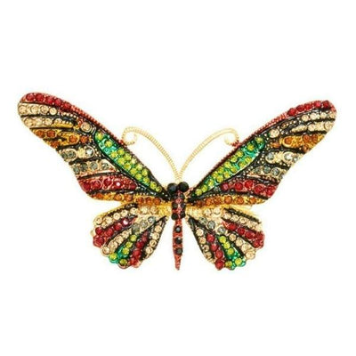 Crystal Butterfly Hairclip & Brooch-Discontinued-Multicoloured Crystal-Tegen Accessories