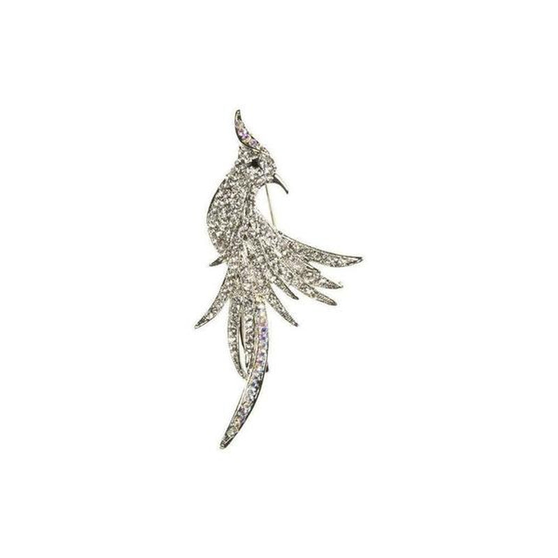 Crystal Cockatiel Brooch-Brooches-Rosie Fox-Silver-Tegen Accessories