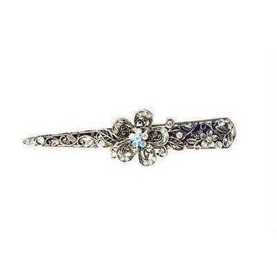 Crystal Flower Beak Clip-Discontinued-Silver-Tegen Accessories