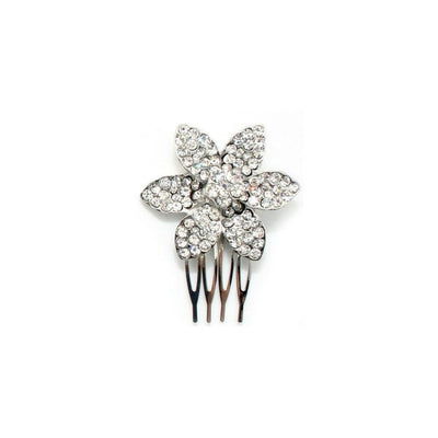 Crystal Flower Comb-Hair combs-Bridal-Daisy-Silver-Tegen Accessories