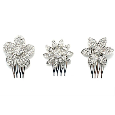 Crystal Flower Comb-Hair combs-Bridal-Tegen Accessories