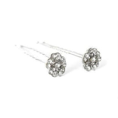 Crystal Flower Hair Pins-Chignon pins-Bridal-Rose-Tegen Accessories