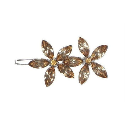 Crystal Flowers Hair Clip-Discontinued-Bronze Crystal-Tegen Accessories