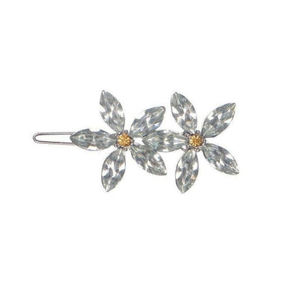 Crystal Flowers Hair Clip-Discontinued-Grey Crystal-Tegen Accessories