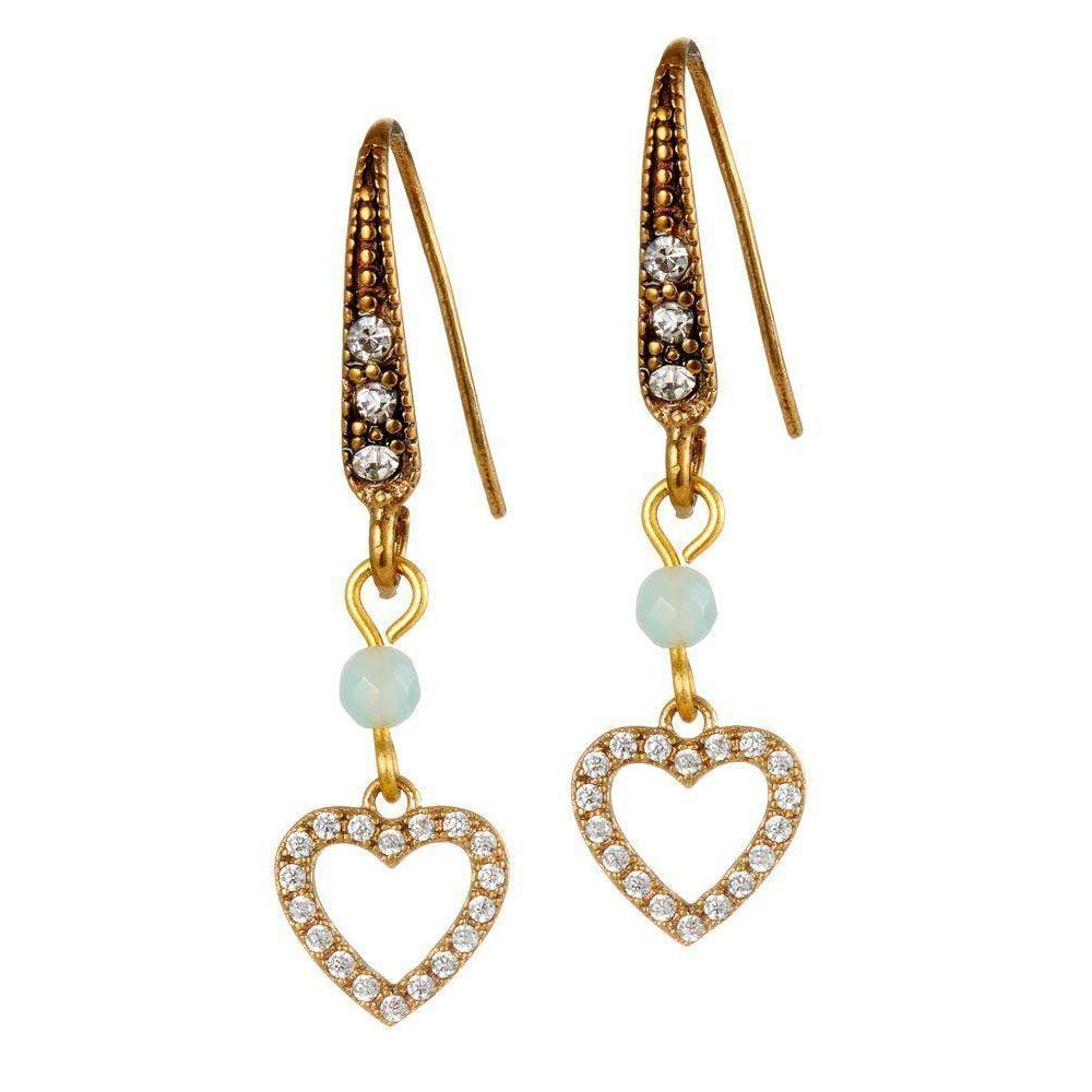 Crystal Heart Earrings-Earrings-Rosie Fox-Tegen Accessories