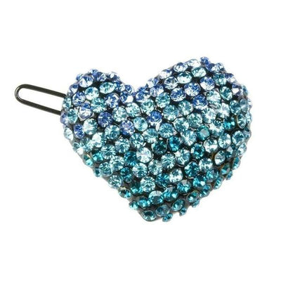 Crystal Heart Hair Clip-Clips & slides-Rosie Fox-Blue-Tegen Accessories