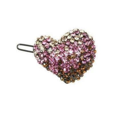 Crystal Heart Hair Clip-Clips & slides-Rosie Fox-Pink-Tegen Accessories