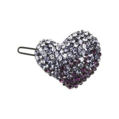 Crystal Heart Hair Clip-Clips & slides-Rosie Fox-Purple-Tegen Accessories