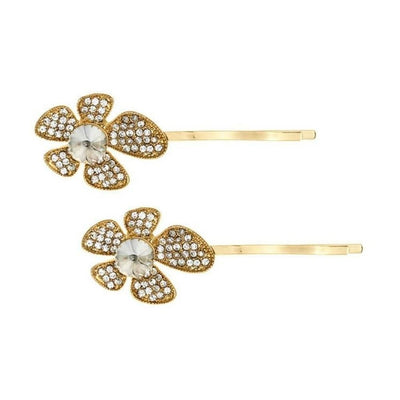 Crystal Lily Hairslides-Clips & slides-Rosie Fox-Gold-Tegen Accessories