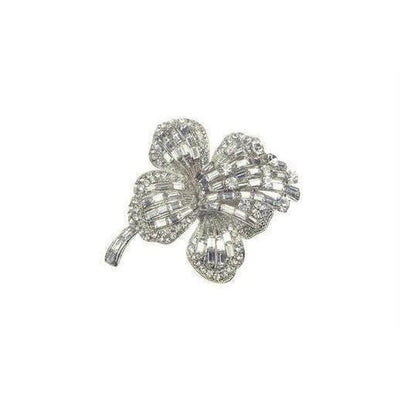 Crystal Orchid Brooch-Discontinued-Silver-Tegen Accessories