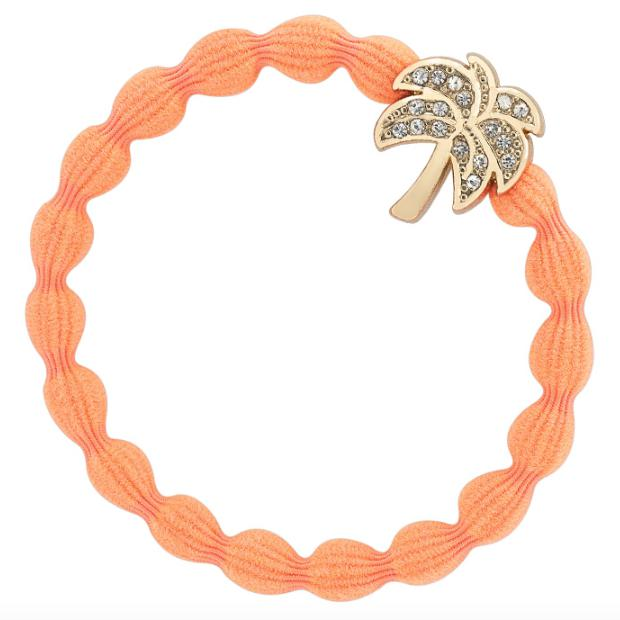 Crystal Palm Tree Charm Hairband-Elastics-by Eloise-Neon Pink-Tegen Accessories Pink