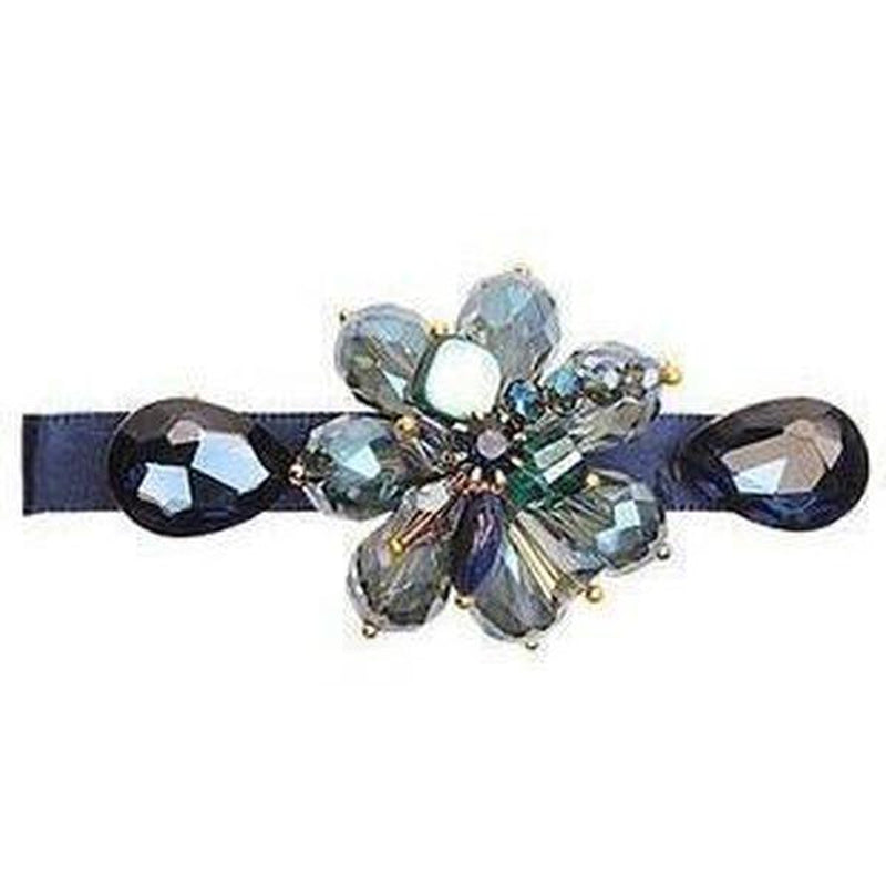 Crystal Ribbon Hair Clip-Clips & slides-Rosie Fox-Blue-Tegen Accessories