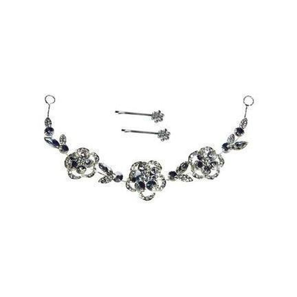 Crystal Rose Hair Necklace-Discontinued-Silver-Tegen Accessories