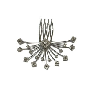 Crystal Starburst Comb-Hair combs-Bridal-Silver-Tegen Accessories