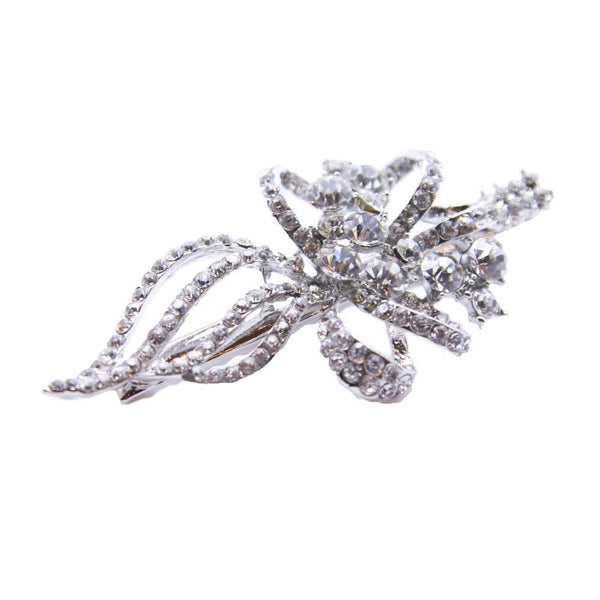 Crystal Swirl Clip-Clips & slides-Bridal-Silver-Tegen Accessories