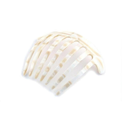 Curved French Pleat Comb-Hair combs-Ooh La La!-Vanilla-Tegen Accessories