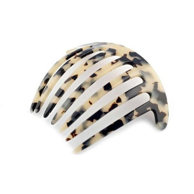 Curved French Pleat Comb-Hair combs-Ooh La La!-White Tokio-Tegen Accessories