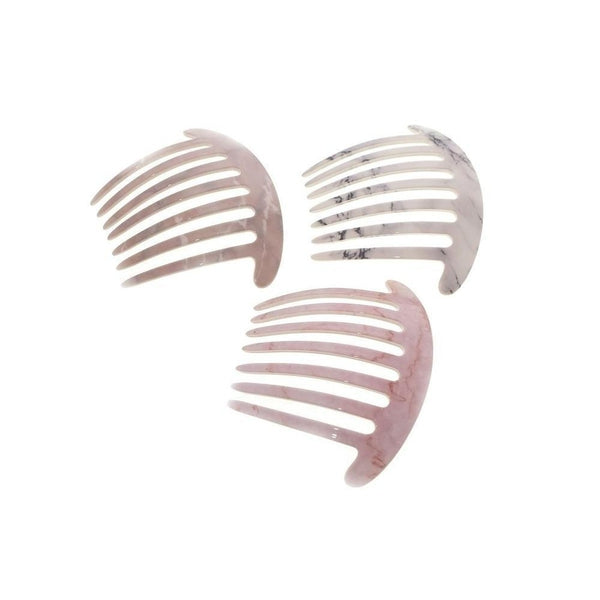 Curved Marble Hair Comb-Discontinued-Tegen Accessories