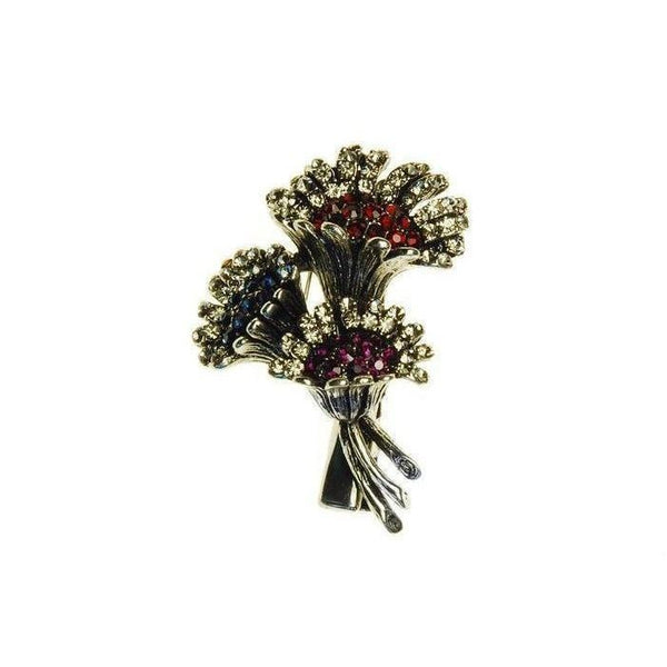 Daisy Bouquet Brooch-Discontinued-Silver-Tegen Accessories