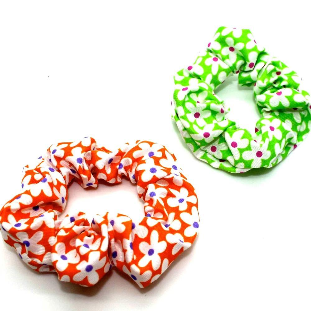Daisy Scrunchies-Scrunchies-Children-Orange-Tegen Accessories