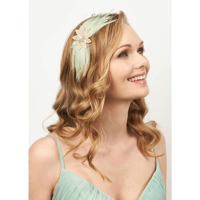 Daphne Pearl and Feather Headband-Headbands-Rosie Fox-Tegen Accessories