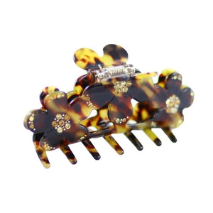 Dark Tokio Floral Swarovski Crystal Hair Claw-Discontinued-Dark Tokio-Tegen Accessories