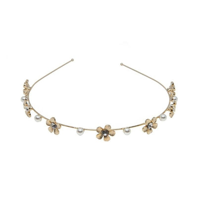 Delicate Gold Daisy Headband-Discontinued-Tegen Accessories