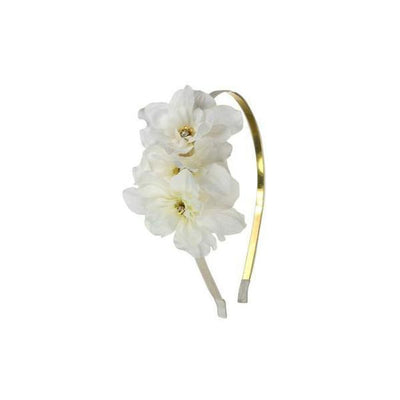 Delphinium Headband-Hair flowers-Rosie Fox-Ivory-Tegen Accessories