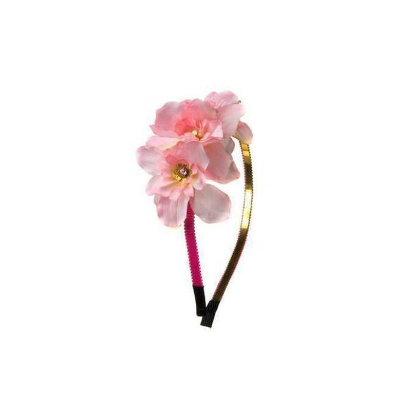 Delphinium Headband-Hair flowers-Rosie Fox-Pink-Tegen Accessories Pink