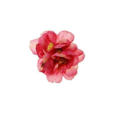 Double Flower Hair Clip/Brooch-Discontinued-Pink-Tegen Accessories
