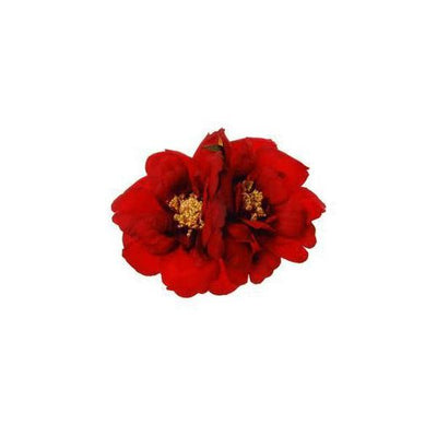 Double Flower Hair Clip/Brooch-Discontinued-Red-Tegen Accessories