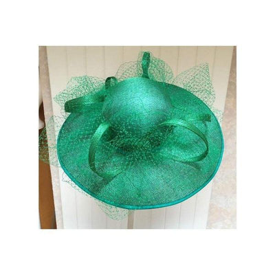 Emerald Green Occasion Hat-Discontinued-Green-Tegen Accessories