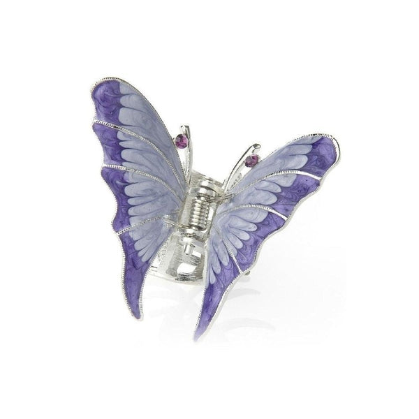 Enamel Butterfly Hair Claw-Hair claws-Rosie Fox-Purple-Tegen Accessories