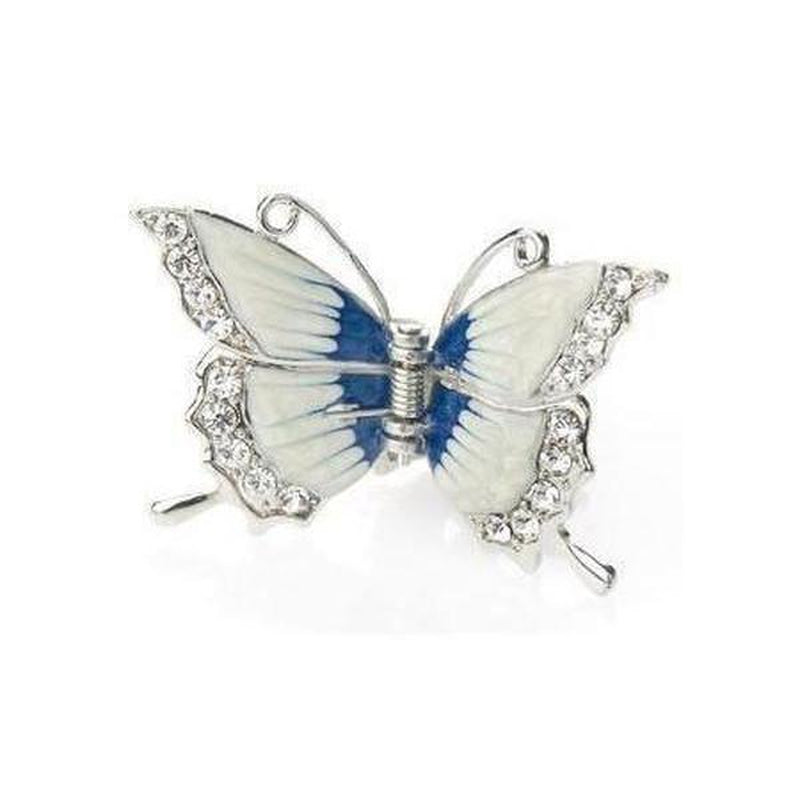 Enamel Butterfly Hair Claw-Hair claws-Rosie Fox-White-Tegen Accessories