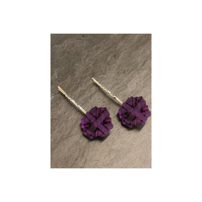 English Rose Hair Grips-Discontinued-Purple-Tegen Accessories