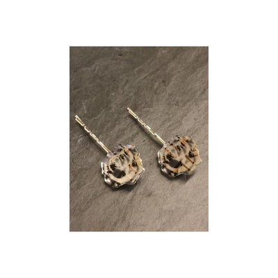 English Rose Hair Grips-Discontinued-Silver-Tegen Accessories