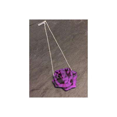 English Rose Necklace-Discontinued-Purple-Tegen Accessories