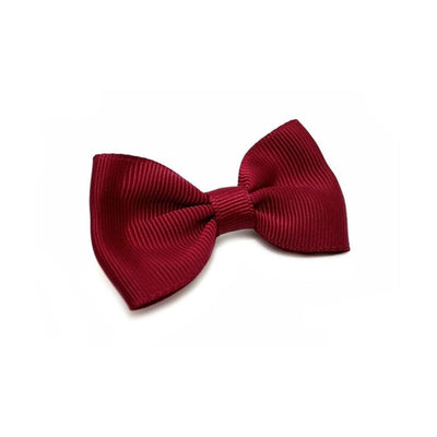 Fabric Hair Bow-Discontinued-Burgundy-Tegen Accessories